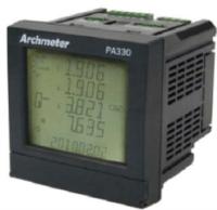 PA-330 盤面型三相電表